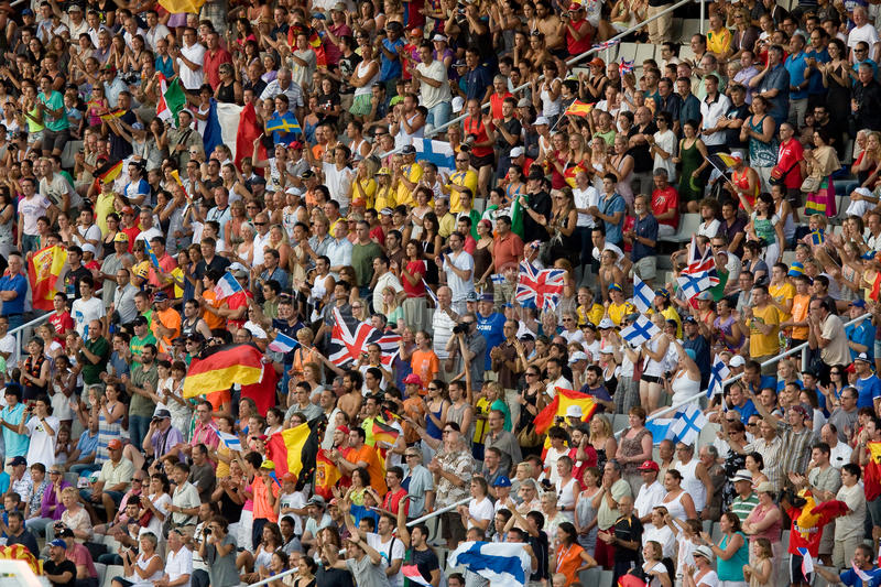 Download Supporters editorial photo. Image of competition, flags - 15389876
