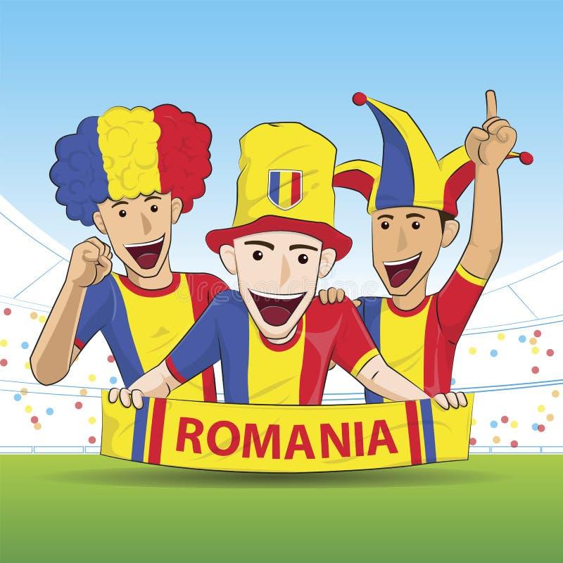 Supporters de la Roumanie illustration stock