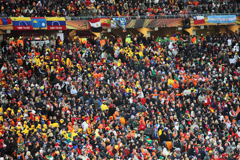 Supporters and fans stock images