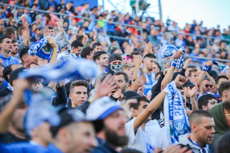 Supporters of Leganes stock photography