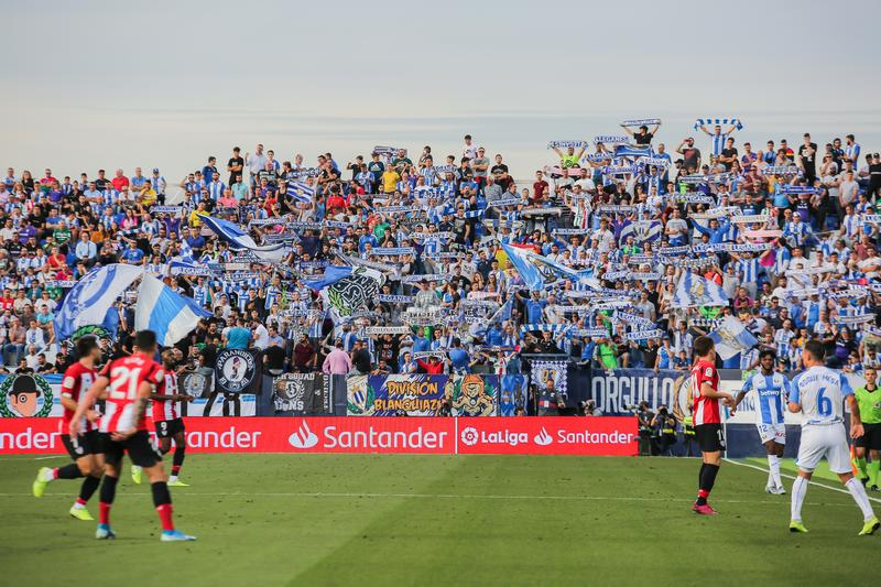 Supporters os CD. Leganés stock images