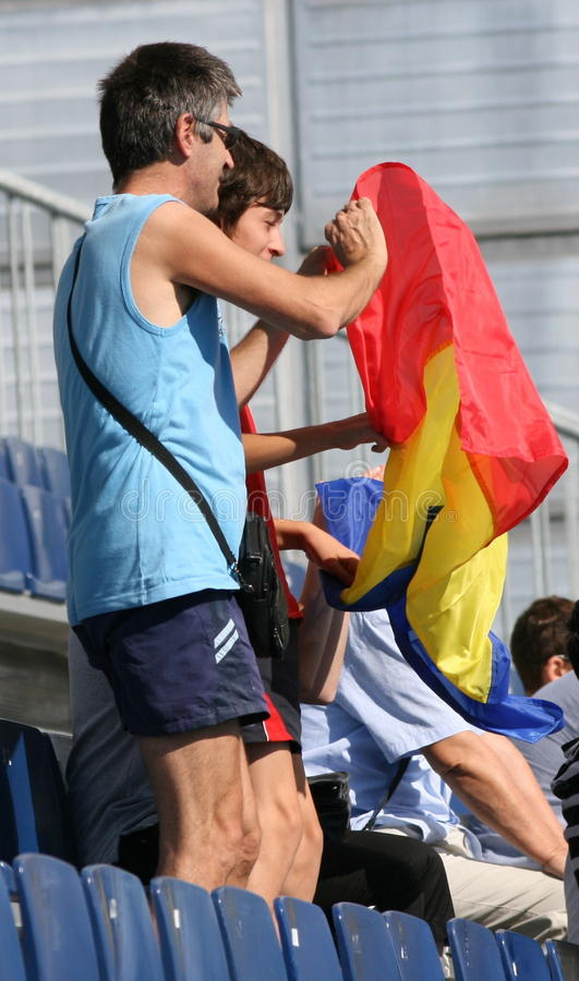 Supporters Of Romania stock image