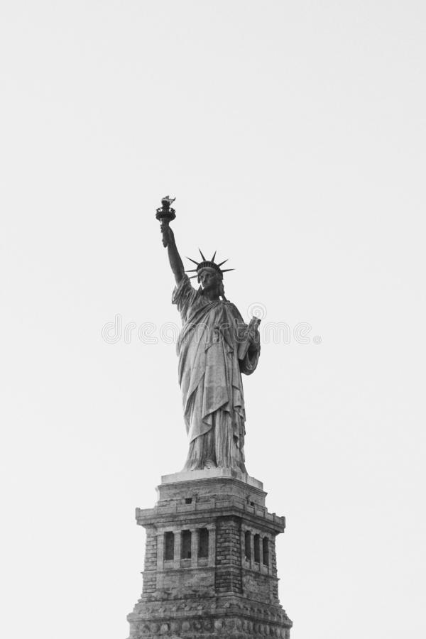 Supporti della statua della libertà immagini stock