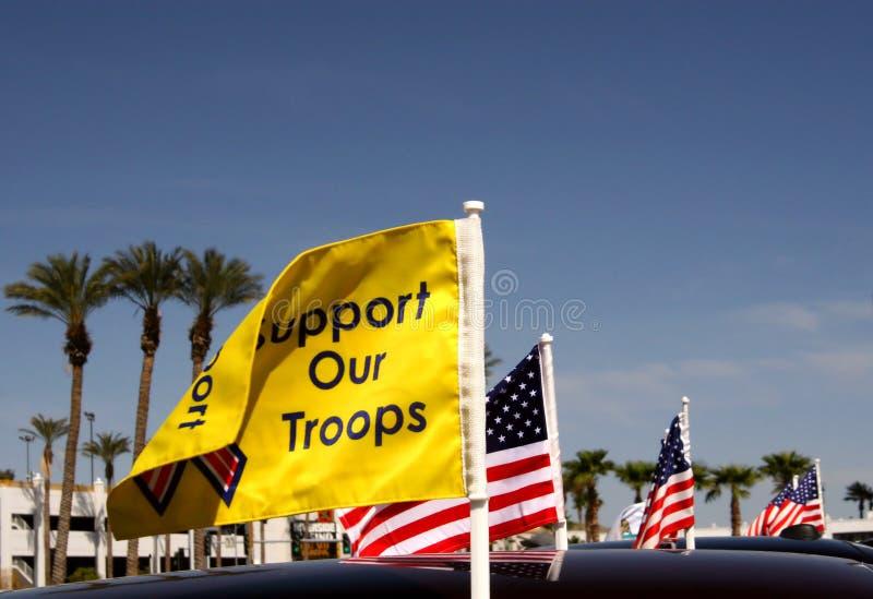 Supporti le nostre truppe fotografie stock