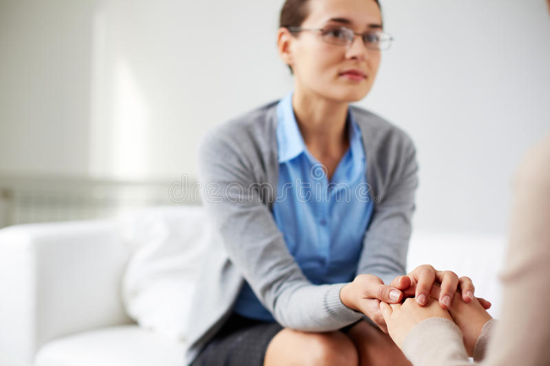 Supporting patient stock photos