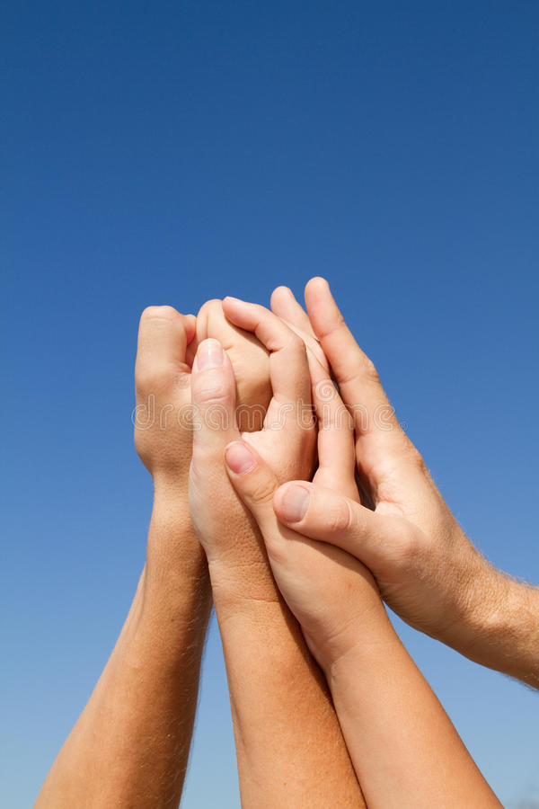 Supportive hands royalty free stock images