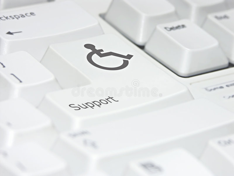 Supportive Keyboard Stock Photo