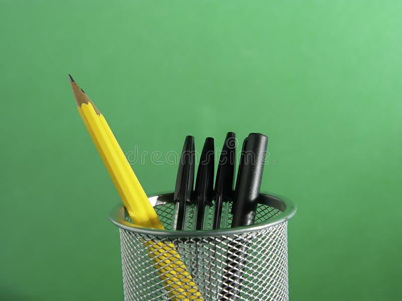Supporto 2 della matita e della penna fotografie stock libere da diritti