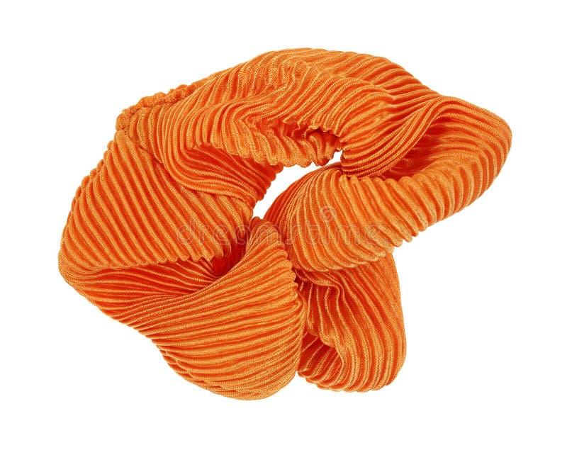 Supporto arancio dei capelli di Scrunchy immagine stock libera da diritti