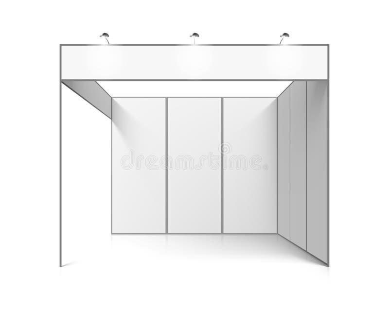 Supporto in bianco di mostra di commercio di bianco illustrazione vettoriale