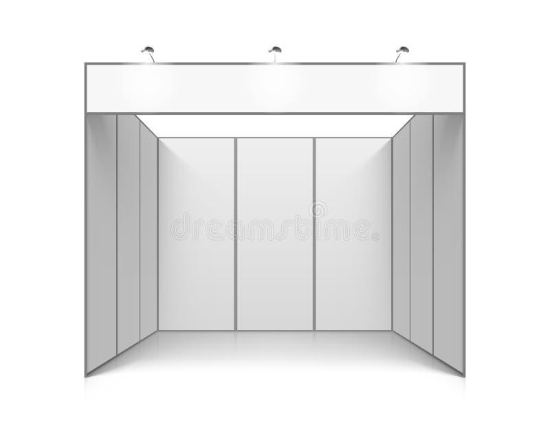 Supporto in bianco di mostra di commercio di bianco illustrazione di stock