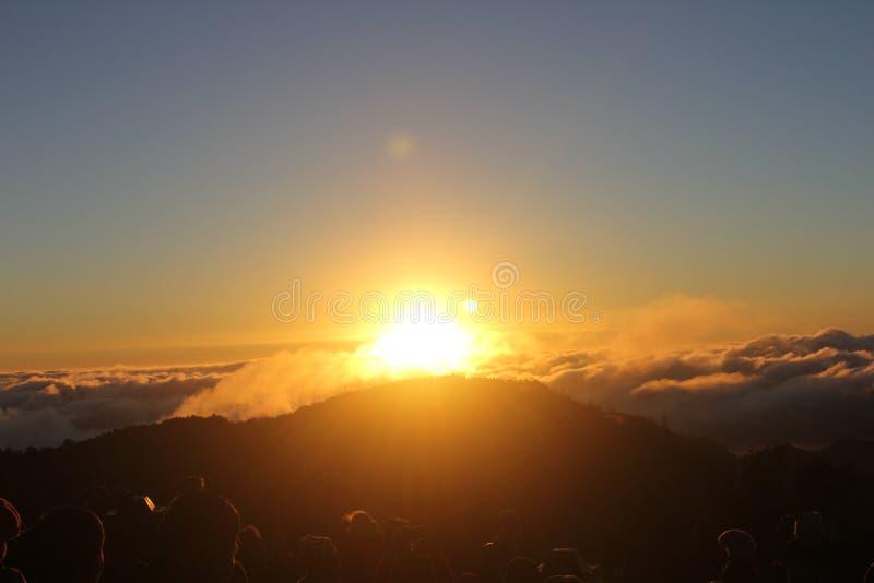 Supporto Bromo di tramonto immagine stock libera da diritti