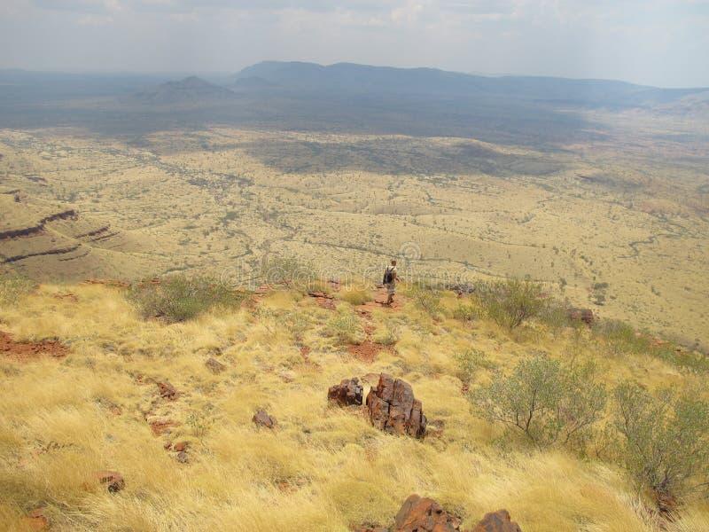 Supporto Bruce vicino al parco nazionale di Karijini, Australia occidentale immagini stock libere da diritti