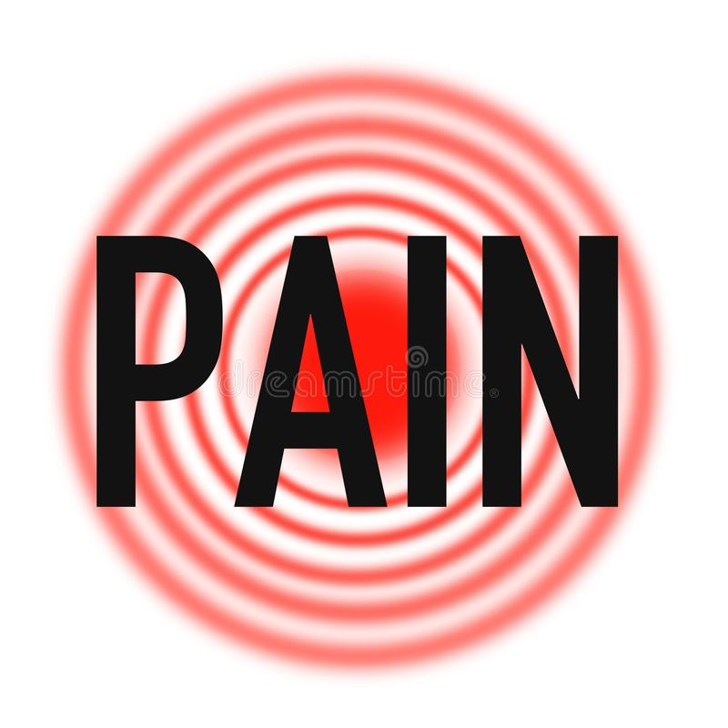 Supporto del pronto soccorso di dolori e di dolore, qualità eccellente illustrazione vettoriale