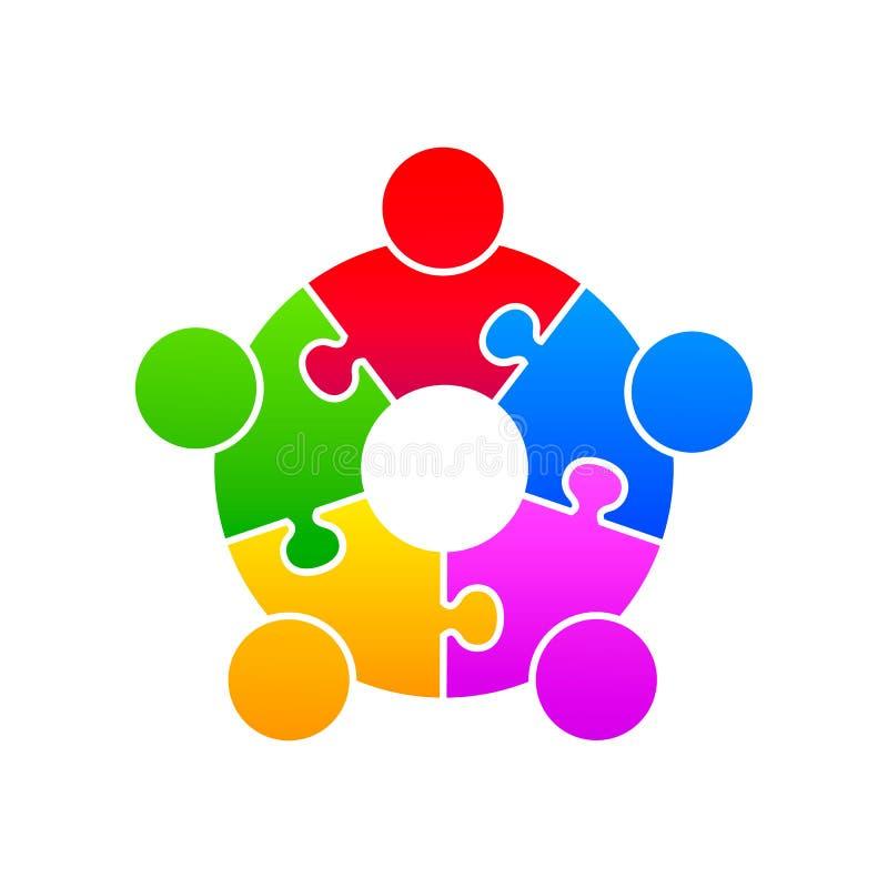 Supporto del sindacato di puzzle della Comunità illustrazione di stock