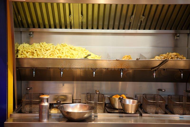 Supporto delle patate fritte. immagini stock libere da diritti