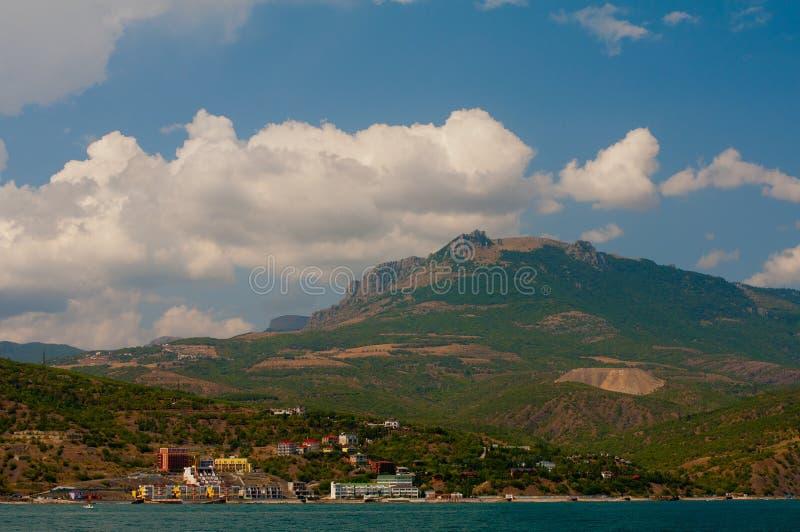 Supporto Demerdzhi Vista dal mare fotografie stock