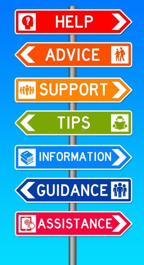 Supporto di consiglio illustrazione vettoriale