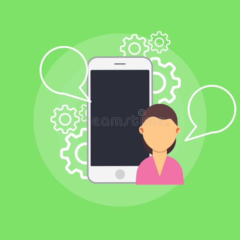 Supporto di informazioni di rapporto di web di testimonianza Voto di testimonianze della rete di tecnologia di prestazione del qu illustrazione vettoriale