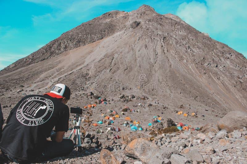Supporto di Merapi fotografie stock libere da diritti