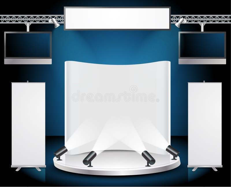 Supporto di mostra di commercio dello spazio in bianco di vettore royalty illustrazione gratis