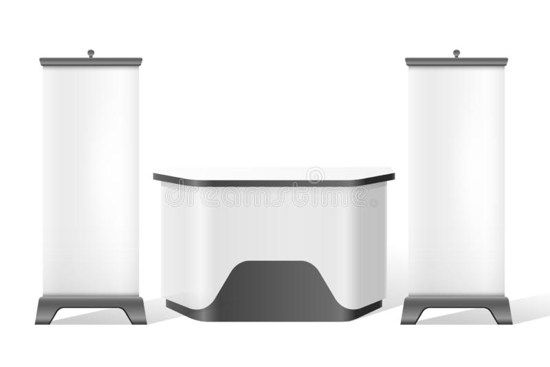 Supporto di ricezione di vettore, modello di commercio 3d di mostra illustrazione vettoriale