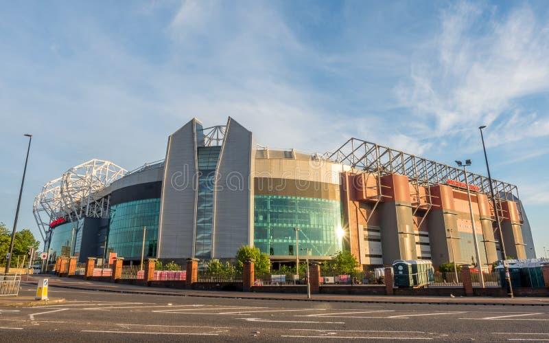 Supporto di Sir Alex Ferguson nel vecchio stadio di Trafford immagine stock