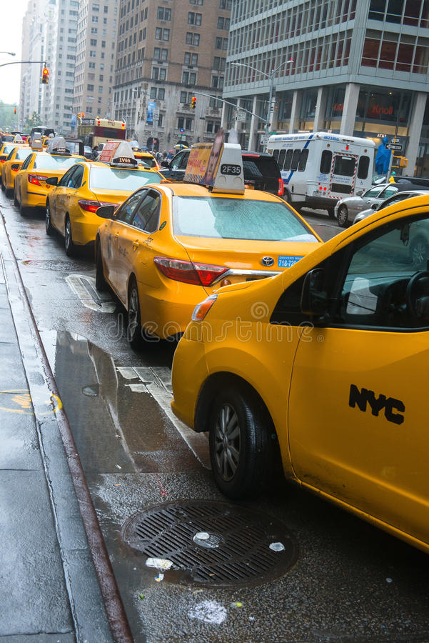 Supporto di taxi di New York fotografia stock