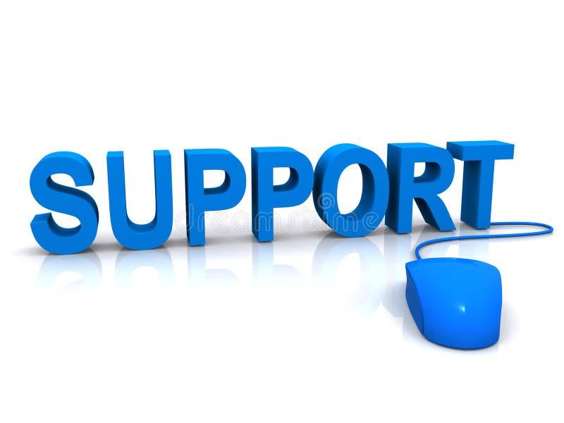 Supporto e mouse blu fotografie stock