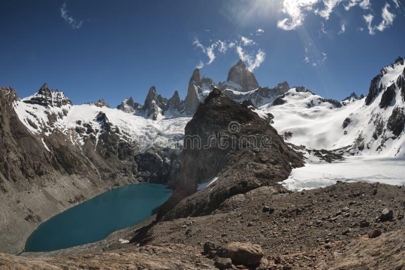 Supporto Fitz Roy, Patagonia, Argentina immagine stock
