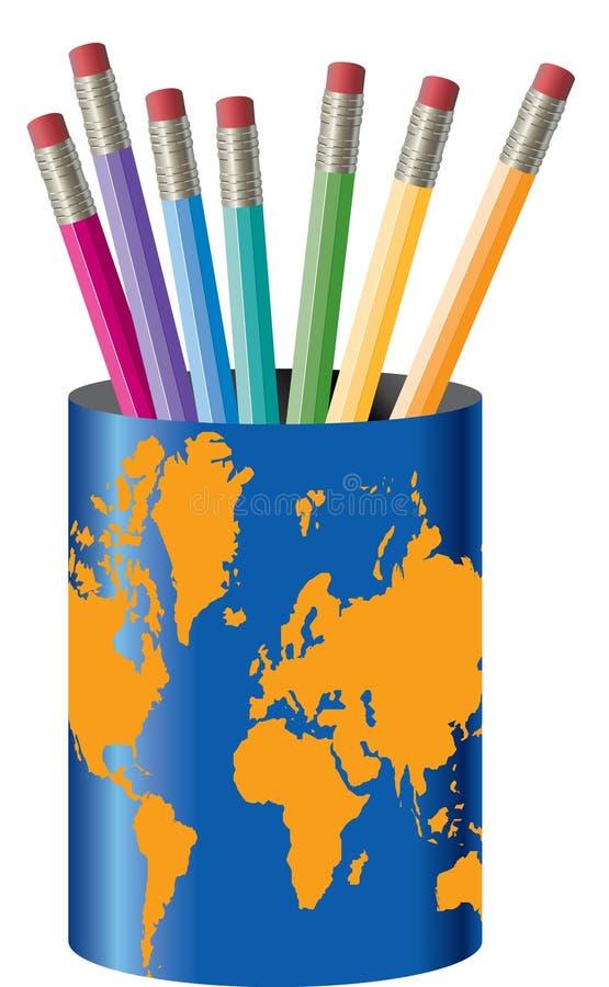 Supporto globale della matita   illustrazione di stock