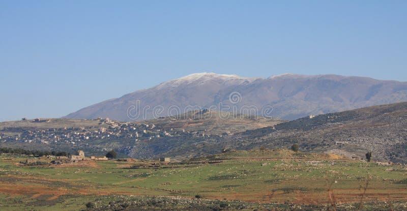 Supporto Hermon (EL-Sceicco di Jabal) fotografia stock