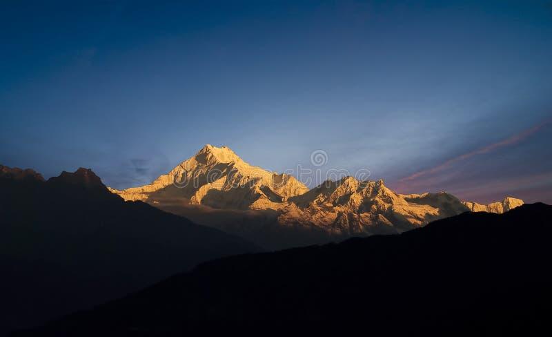 Supporto Kanchenjunga immagini stock libere da diritti