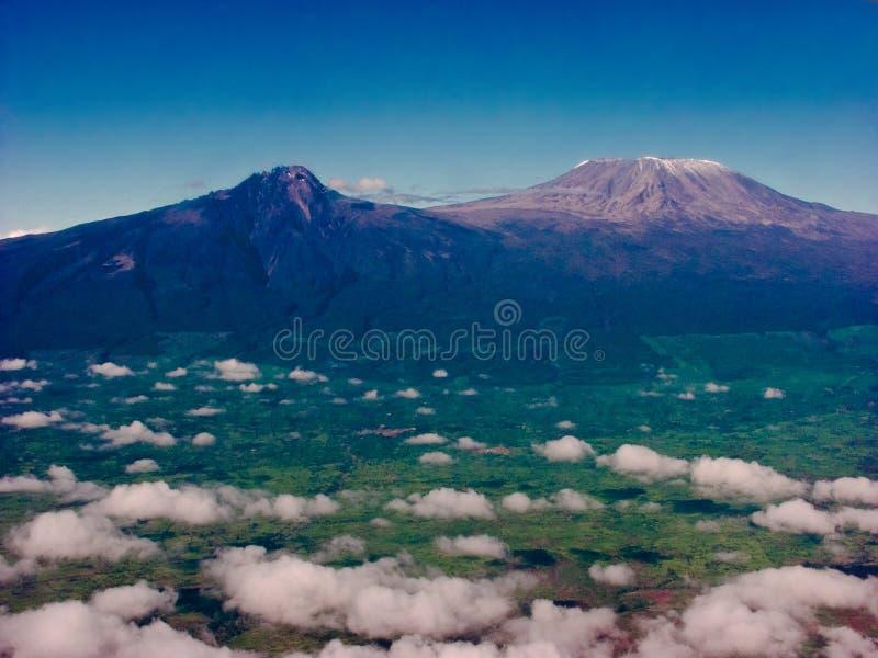 Supporto Kilimanjaro fotografie stock