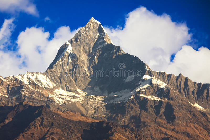 Supporto Machhapuchhre, Nepal fotografia stock libera da diritti