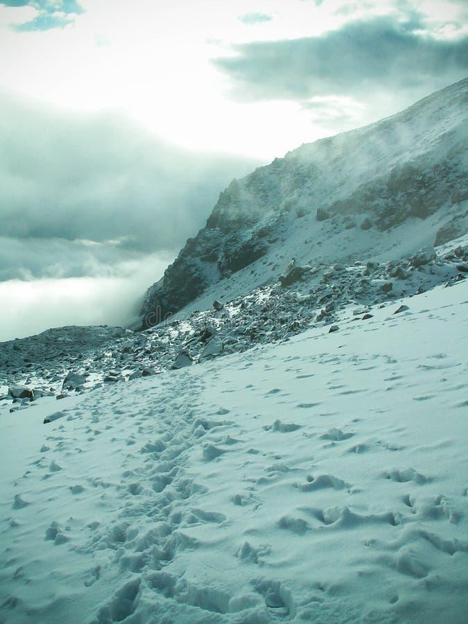 Supporto nuvoloso Chachani fotografie stock