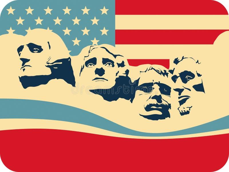 Supporto Rushmore royalty illustrazione gratis