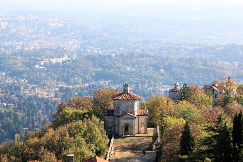 Supporto sacro di Varese, Italia fotografie stock