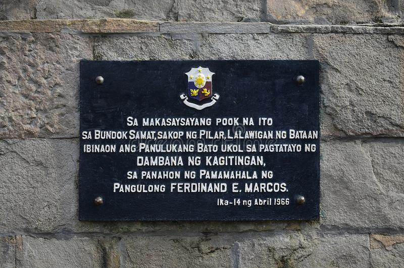 Supporto Samat National Shrine Bataan Filippine fotografia stock libera da diritti