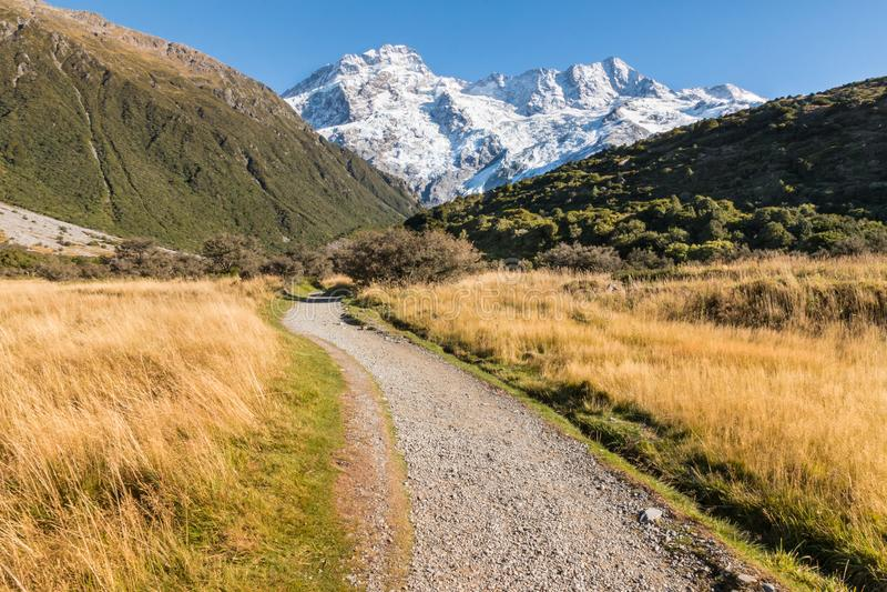 Supporto Sefton nel cuoco National Park, alpi del sud, Nuova Zelanda di Mt fotografia stock libera da diritti