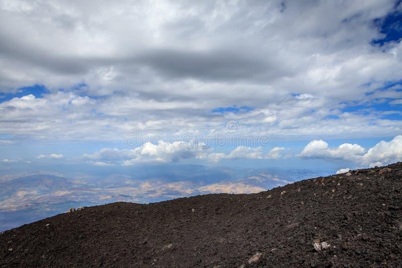 Supporto sterile Etna Landscape immagini stock libere da diritti