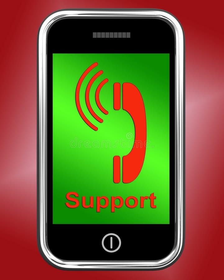 Supporto sulla richiesta di manifestazioni del telefono per consiglio illustrazione vettoriale