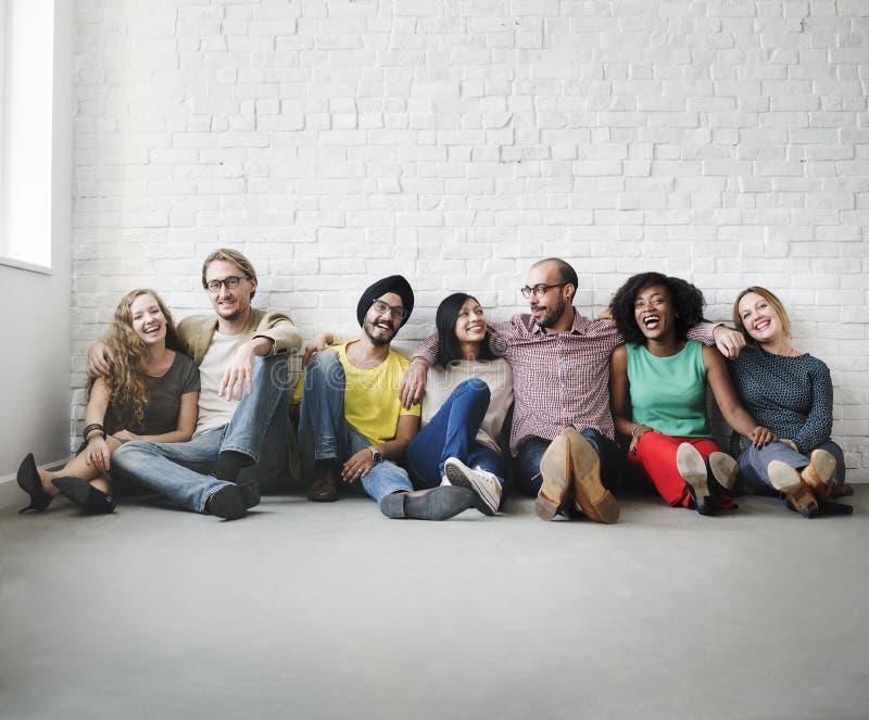 Supporto Team Unity Friendship Concept degli amici immagini stock