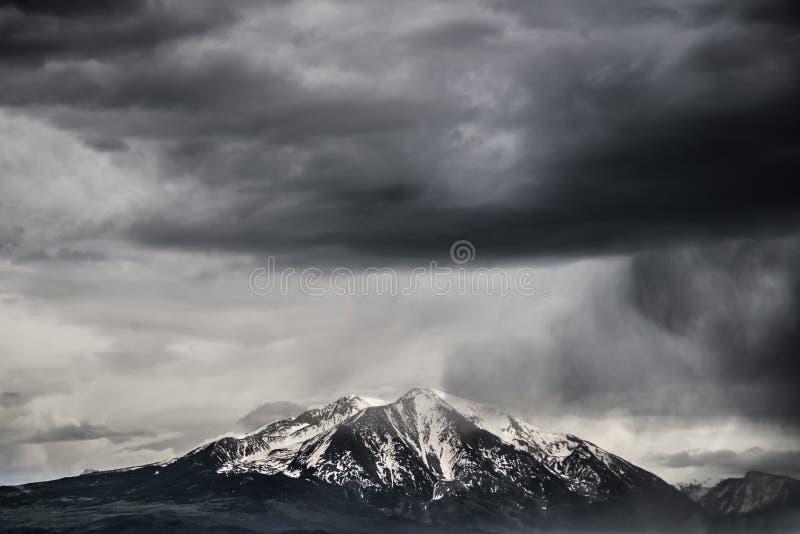 Supporto tempestoso Sopris Colorado fotografie stock libere da diritti