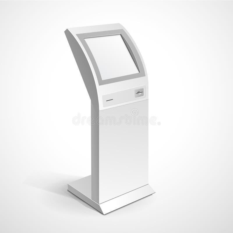 Supporto terminale del monitor della visualizzazione delle informazioni illustrazione di stock