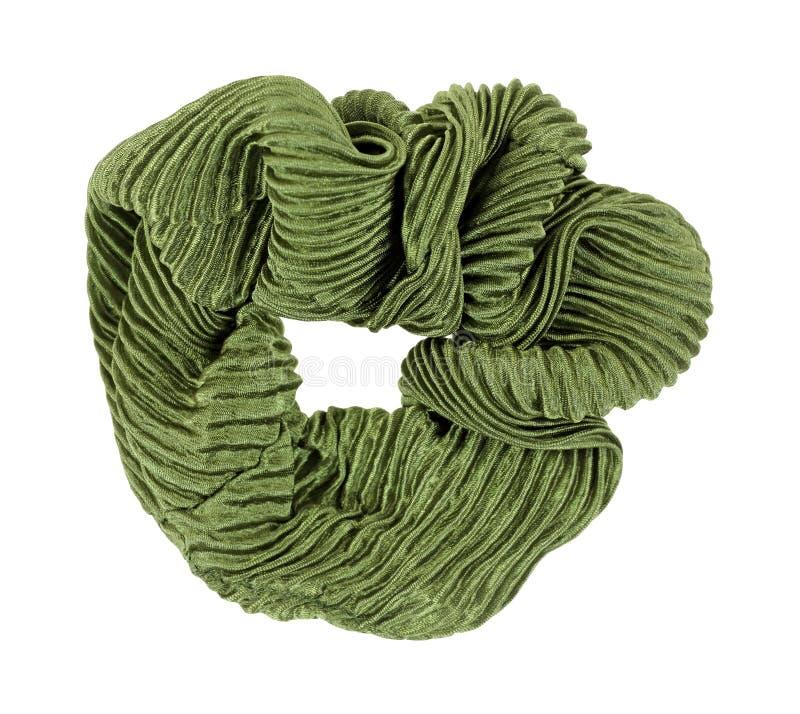 Supporto verde dei capelli di Scrunchy fotografia stock libera da diritti
