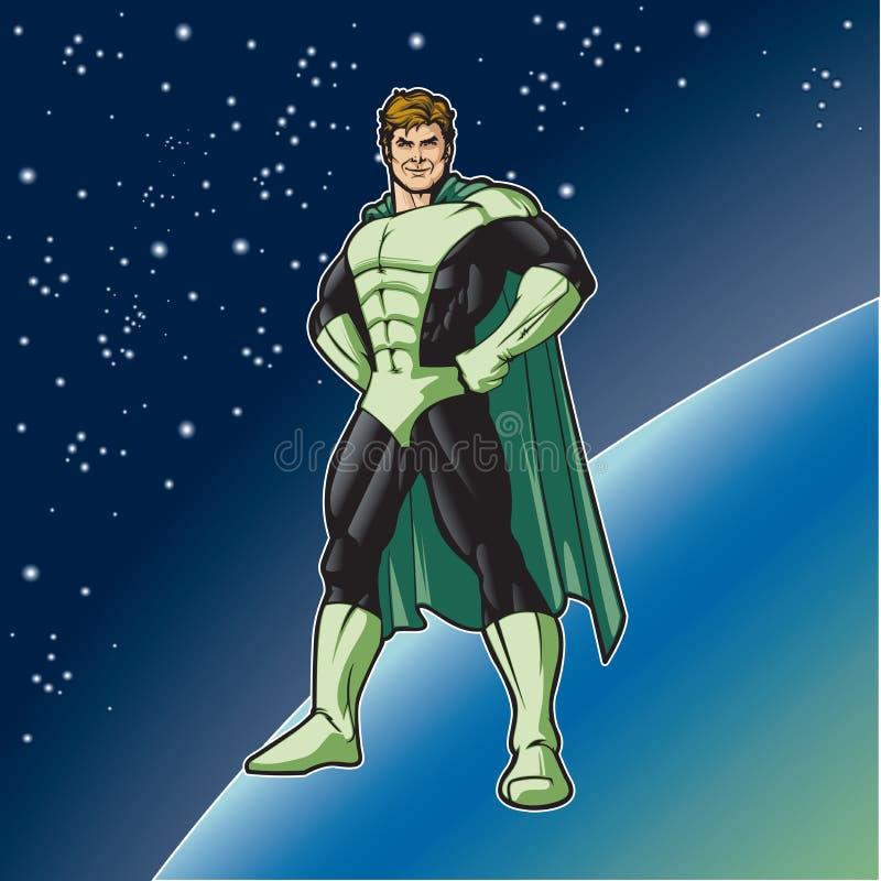Supporto verde dell'eroe illustrazione vettoriale