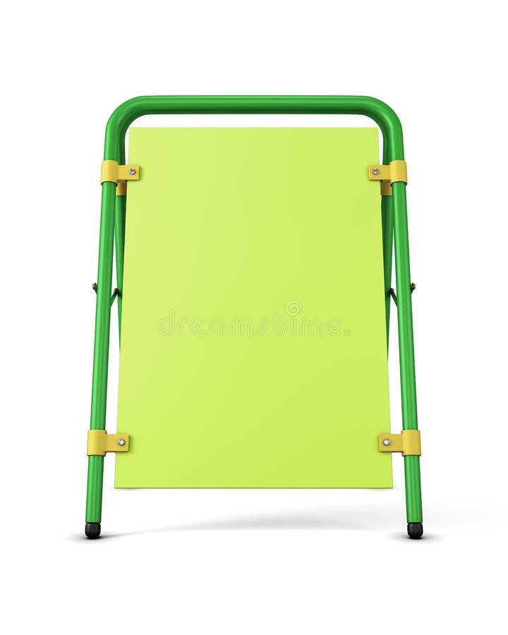 Supporto verde di pubblicità su fondo bianco Modello p illustrazione di stock
