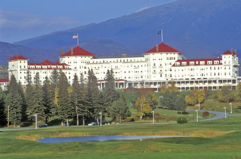 Supporto Washington Hotel, Bretton Woods, NH sull'itinerario 302 fotografia stock libera da diritti