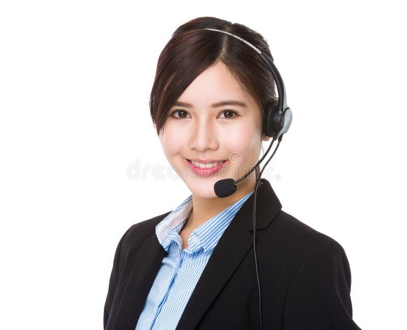 Supportor dos serviços ao cliente fotografia de stock royalty free